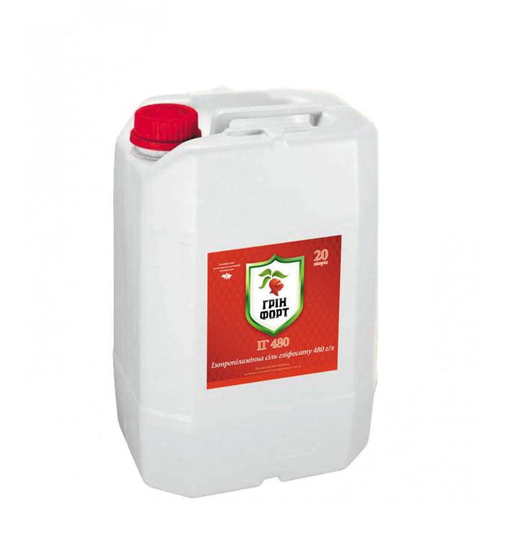 Гринфорт ИГ 480 (Раундап) гербицид, изопропиламиновая соль глифосата, 20л
