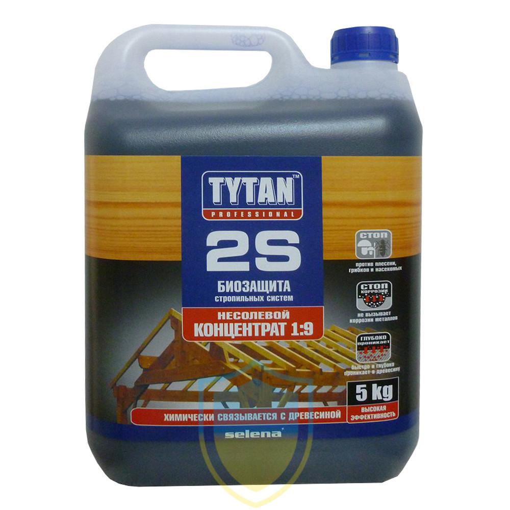 Tytan (Титан) 2S, биозащита стропильных систем, концентрат 1:9, 5л